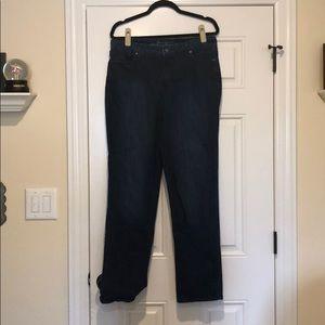 Gloria Vanderbilt rail straight jeans